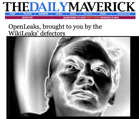 Open Leaks - Skärmdump: The Daily Maverick