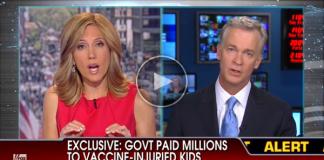 Barnvaccinering och hjärnskador utreds i USA. Skärmdump: Fox News