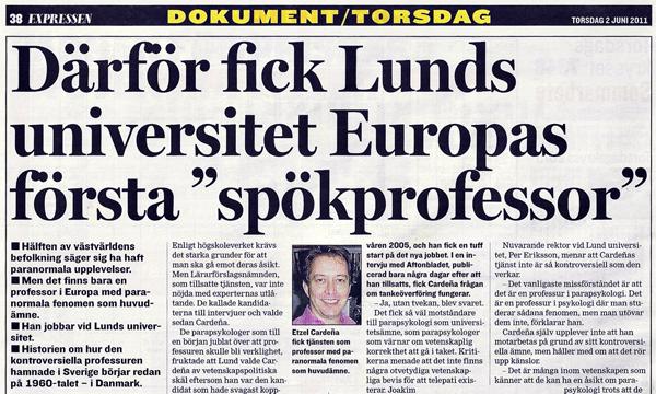 Expressen-Lund-professur-parapsykologi