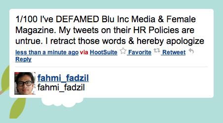 Fahmi Fadzil ,   twitter