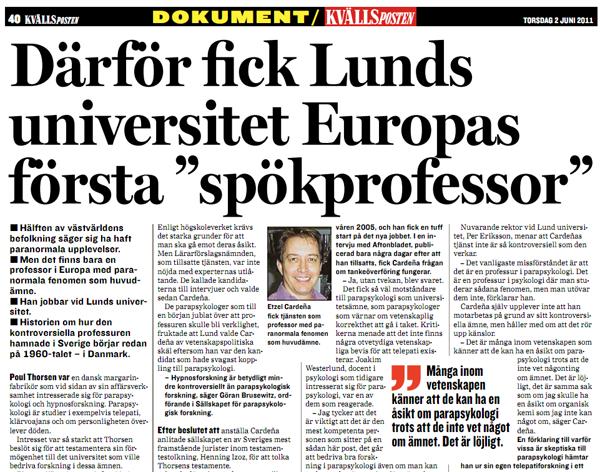 Därför fick Lund Europas första professur i parapsykologi