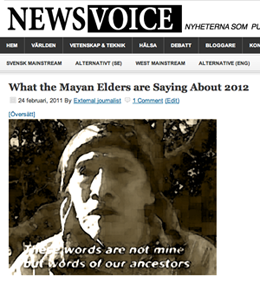What the Mayan Elders are Saying About 2012