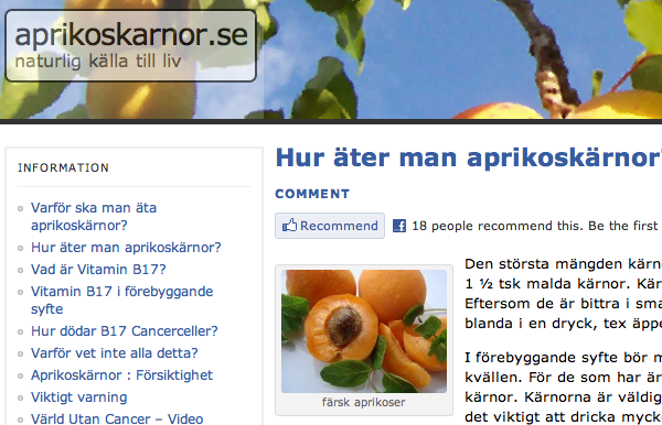 aprikoskärnor botar cancer