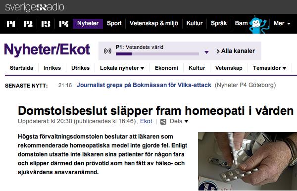 homeopati domslut