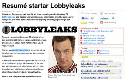 Lobbyleaks.se – Resumés försök att skapa klarhet i svensk lobbyism