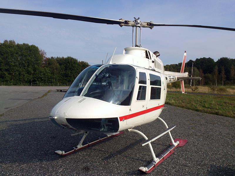 Helikoptern som användes vid rånet i Västberga, en Bell 206 Jet Ranger. Foto: ISE93. Licens: CC BY-SA 3.0, Wikimedia Commons