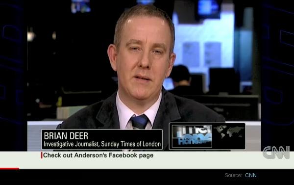 Brian Deer, Big Pharma journalist - Foto: CNN.com