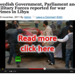 Swedish Government reported for war crimes in Libya