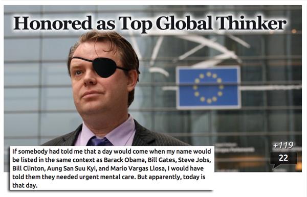 Rick Falkvinge Top 100 Global Thinkers