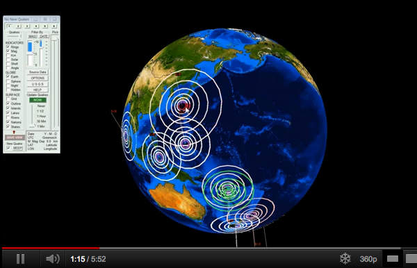 Past 48 hours earthquakes - Global overview