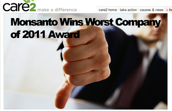 Monsanto Worst Company Award 2011