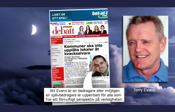 Terry Evans vs Christer Sturmark
