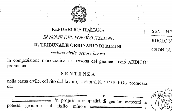 Italien domstolsfall vaccin autism Rimini