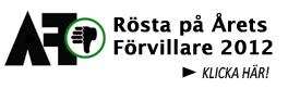 Rösta på Årets Förvillare 2012