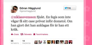 Göran Hägglund Assange Twitter