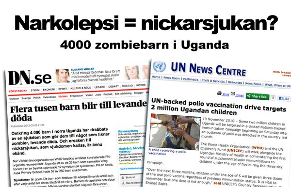 Narkolepsi eller Nickarsjukan Uganda - Dumpar från DN och UN News Centre