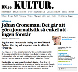 Johan Croneman om kriget i Syrien - DN.se
