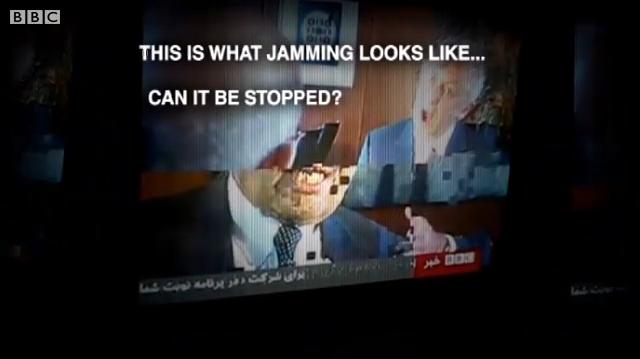 """""""Jamming"""" störning av sattellit TV-sändning"""