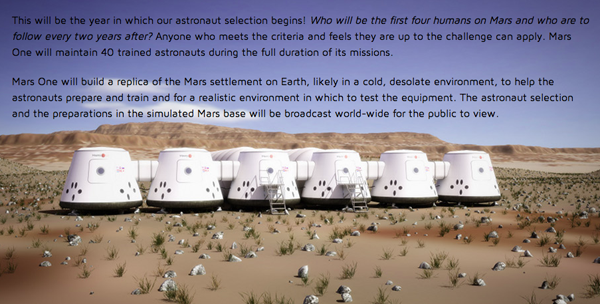 Mars One in 2013