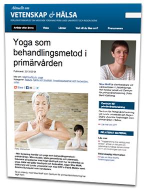 Vetenskap och Halsa om Yoga