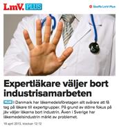 Industrisamarbeten ogillas allt mer av läkare