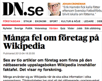 DN om Wikipedia
