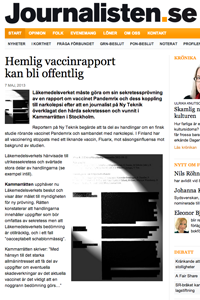 Pandemrix vaccinrapport