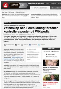 Vetenskap folkbildning styr Wikipedia