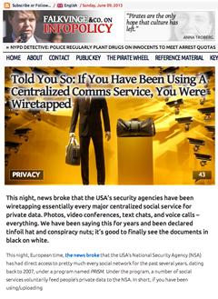 Bevakning av alla civila,   NSA