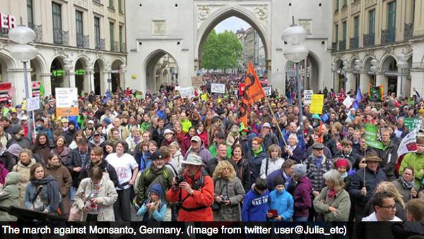 Monsanto Tyskland protester