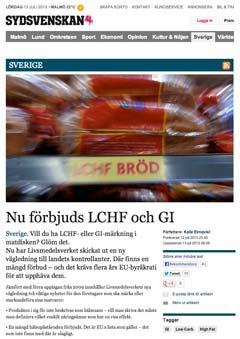 Förbud mot LCHF och GI