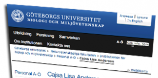 Cajsa Lisa Andersson, Göteborgs-Universitet
