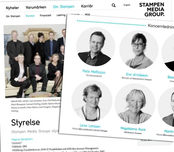 Magdalena Kock, Pelle Mattisson och Kattarina Eriksson på Stampen Group får kritik