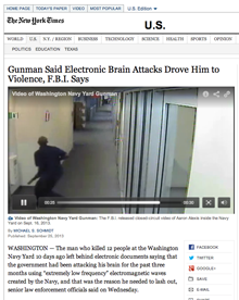 FBI: Washington Navy Yard Gunman