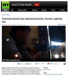 Rebels chemical attack - Dump: RT.com