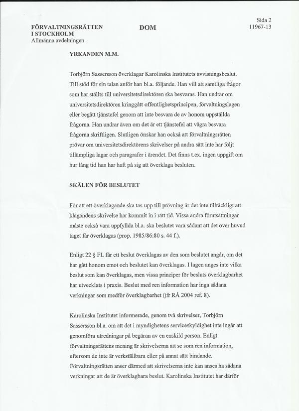 Kammarrätten avslag 30 sep 2013 sid2