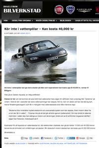 vattenskador vattenpöl bil