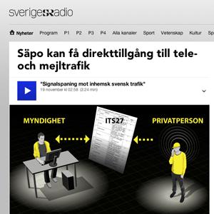 Säpo signalspaning Sverige