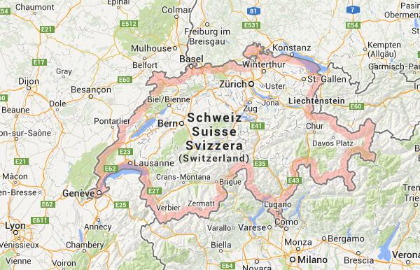 Schweiz karta