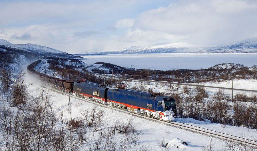 Järnvägen i Norrbotten. Foto: David Guble. Licens: CC BY 3.0, Wikimedia Commons
