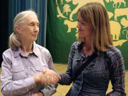 Jane Goodall och Anna Böhlmark. Foto tillhandahållet av Anna Böhlmark.