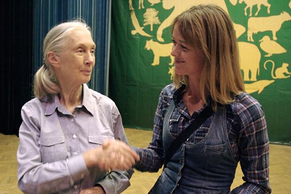 Jane Goodall och Anna Böhlmark