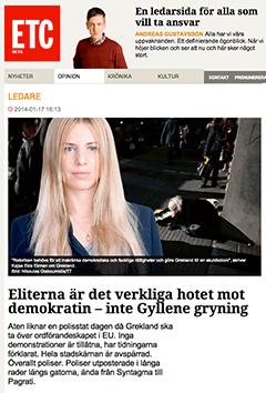 Dagens ETC Kajsa Ekis Ekman
