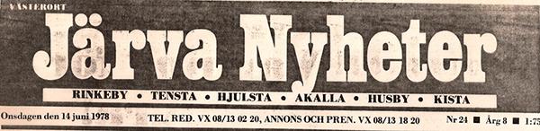 Järva_Nyheter tidningshuvud 1978_72