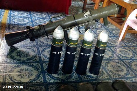 John-San-Lin-Carl-Gustaf-granatgevar-Burma