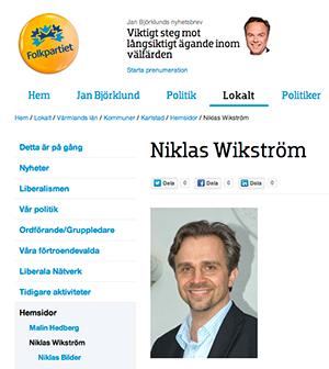 Niklas Wikström,   FP