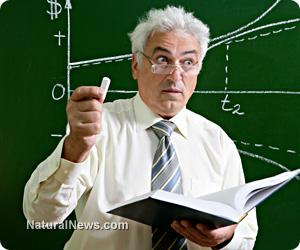 Professor-Teacher-Math-Text-Book-Class