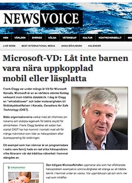 Microsoft-VD: Låt inte barnen vara nära uppkopplad mobil eller läsplatta