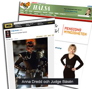 Anna Bäsén och Judge Dredd