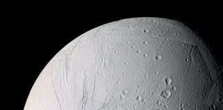 Enceladus moon Image courtesy: NASA JPL SPACE SCIENCE INSTITUTE